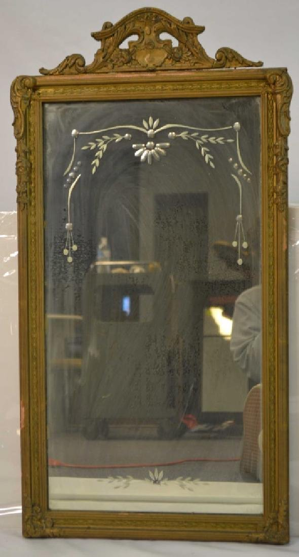 Two Ornate Gold Gilt Mirrors - 2