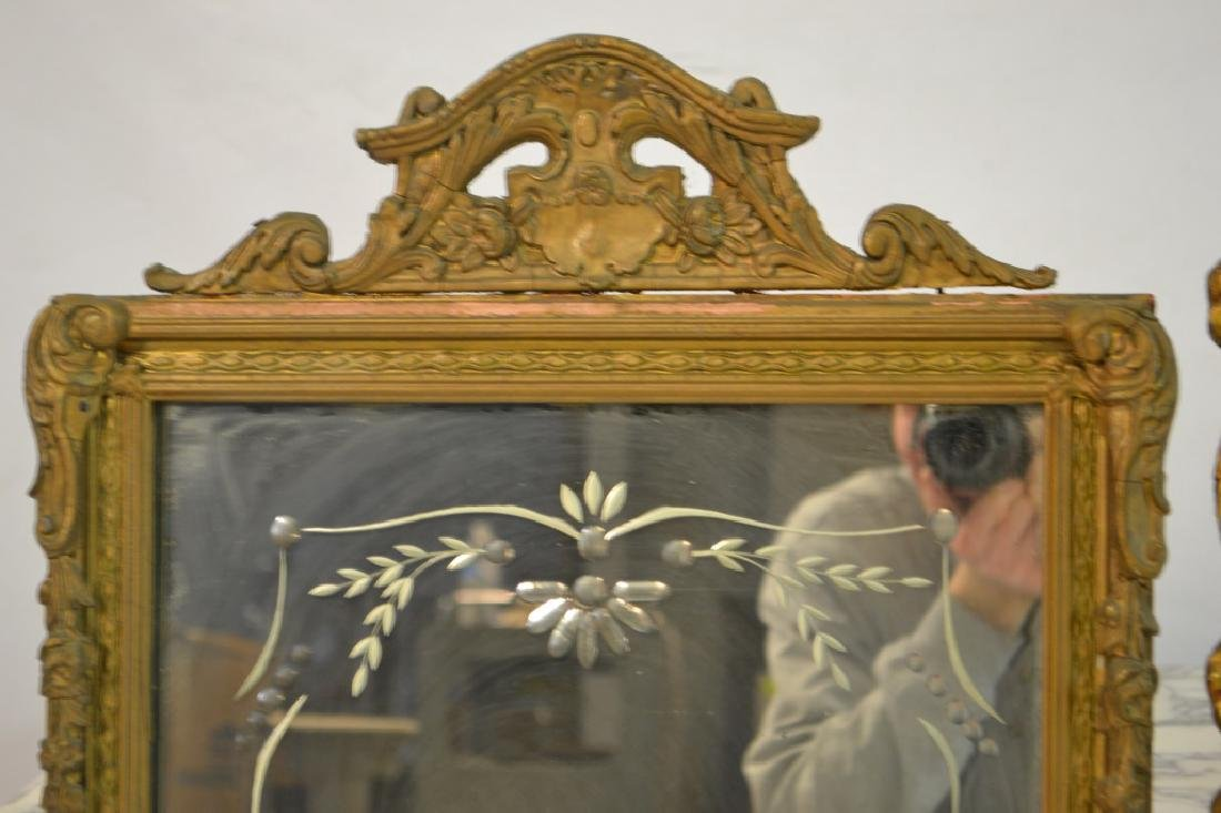 Two Ornate Gold Gilt Mirrors - 4