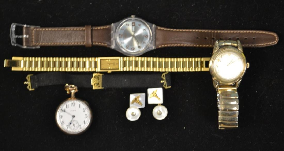 Grouping of Wrist Watches & Pocket Watch