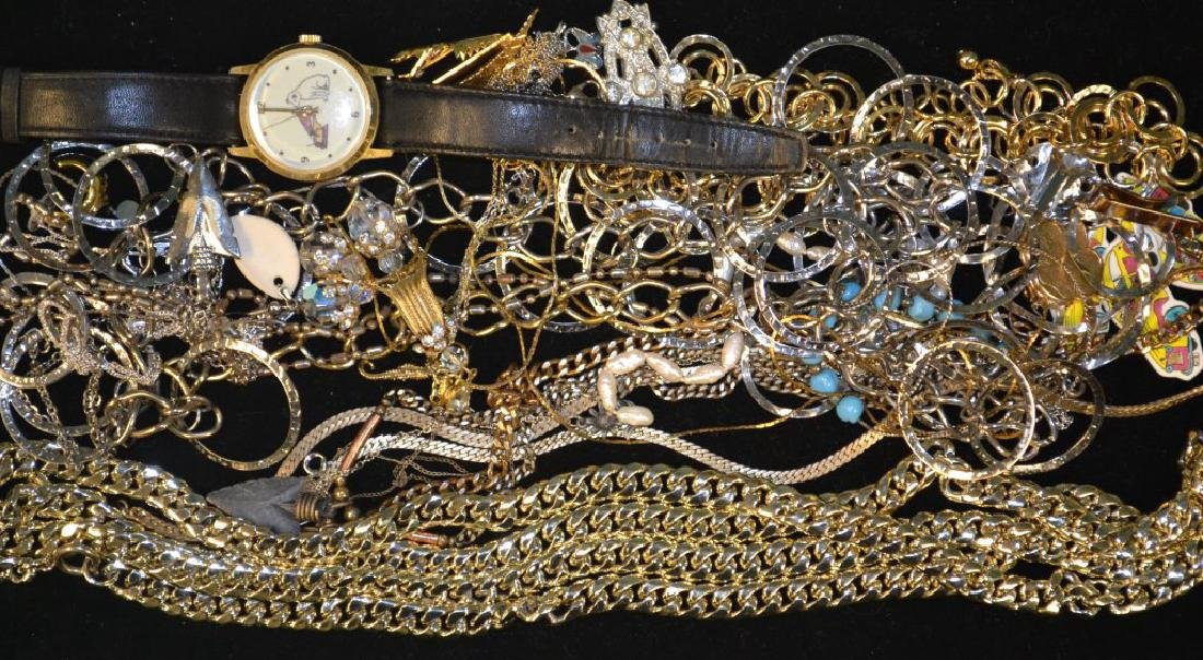 Costume Jewelry including: necklaces, watch, pin,