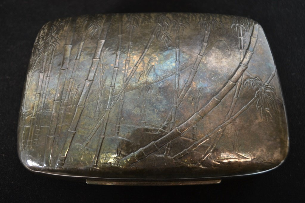 Silver Plate Cigar Box