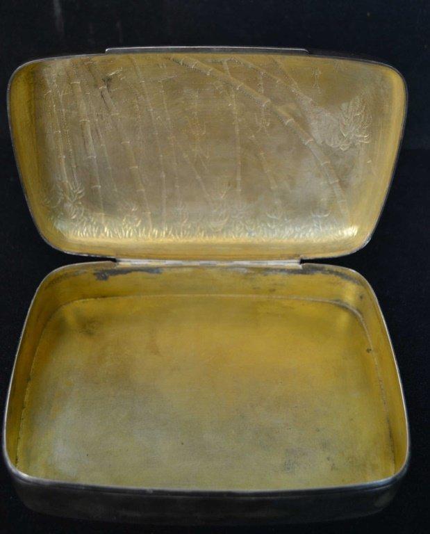 Silver Plate Cigar Box - 2