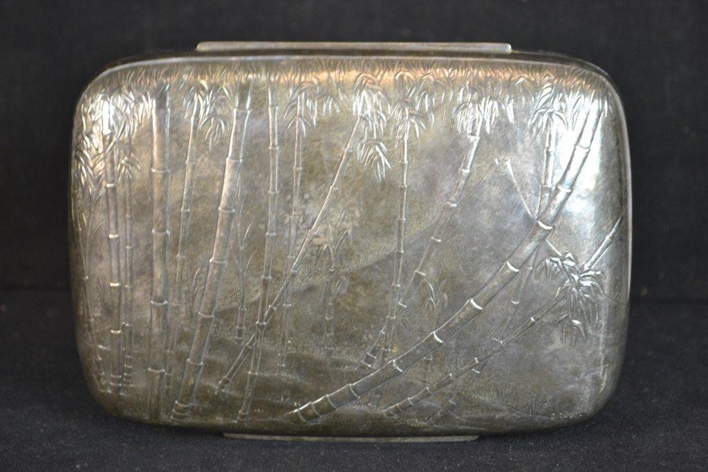 Silver Plate Cigar Box - 3