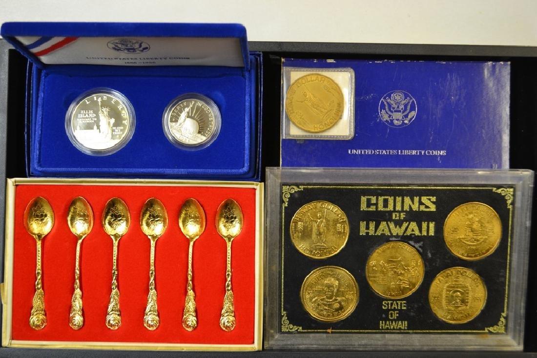 US Liberty Coins, Hawaiian Coins & Souvenir Spoons
