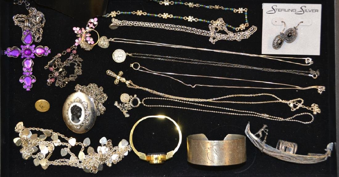 Grouping of Costume & Sterling Silver Lot