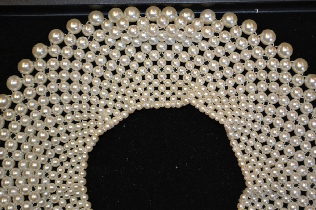 Faux Pearl Strand Necklace and Collar Necklace - 2