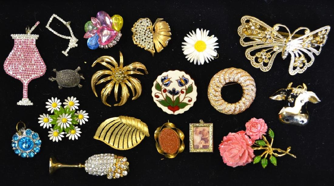 Large Grouping of Costume Pins