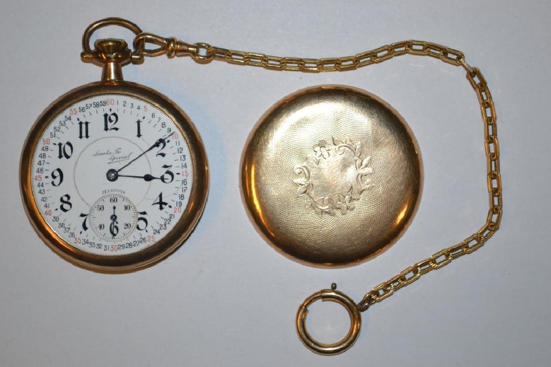 "Illinois ""Santa Fe Special"" pocket watch. 16 size,"