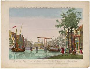 AMSTERDAM & THE HAGUE - OPTICAL VIEWS. Lot of 7 cont