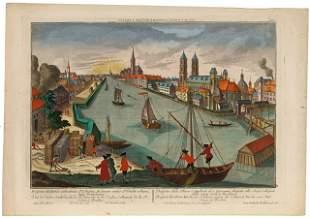 BRESLAU- OPTICAL VIEW - WERNER, F.B. Vue de l'église