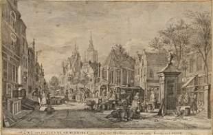 LA FARGUE, Paulus Constantijn (1729-1782). Gezigt v