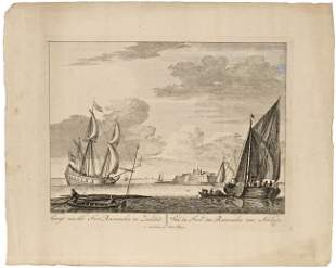 MARITIME HISTORY - Lot of 7 prints, etc., with ship