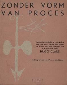 1002: CLAUS, Hugo (1929-2008) - ALECHINSKY, Pierre (192