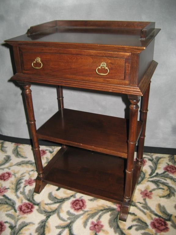 7: Solid Cherry Stand