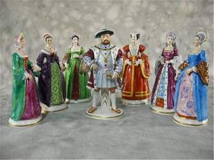 Sitzendorf King Henry And His Six Wives