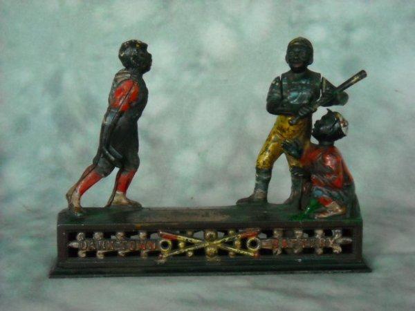 9: Rare Darktown Battery  Cast Iron Bank