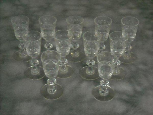 16: Lot of Hawkes Cut Glass Stemware