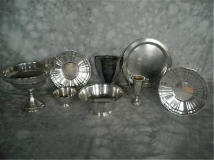 Lot Of Eight Silver Plated Horse Racing Trophies