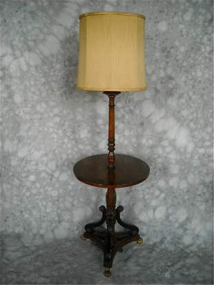 Kittinger Style Shaft Table With Lamp