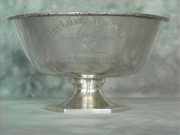 55: Schofield Co. Sterling Silver Horse Racing Trophy