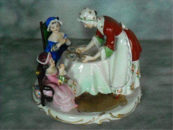 Sitzendorf Porcelain Grouping