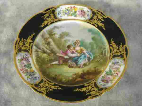 Sevres Plate With Gild Dore' Decorations