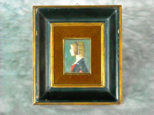 Calzolari Italian Portrait Of Beatrice D. Este