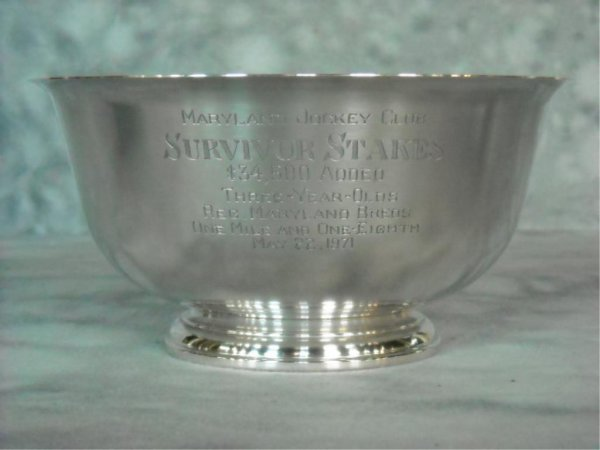 81: Steiff Sterling Silver Horse Racing Trophy