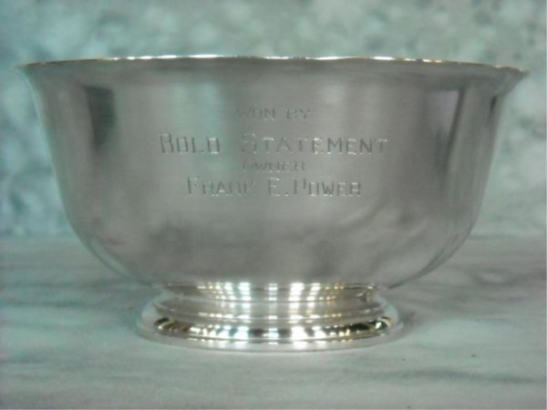 81: Steiff Sterling Silver Horse Racing Trophy - 2
