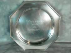 "95: Ensko Sterling Silver Horse Racing Trophy ""Won By"