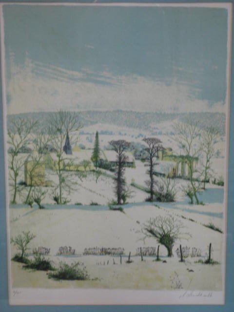 14: Thomas Albert Drachkovitch Signed Lithograph