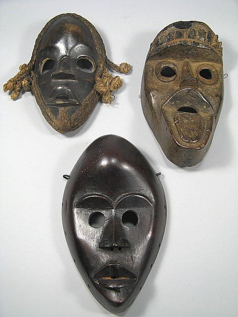 19: Grouping Of African Tribal Masks