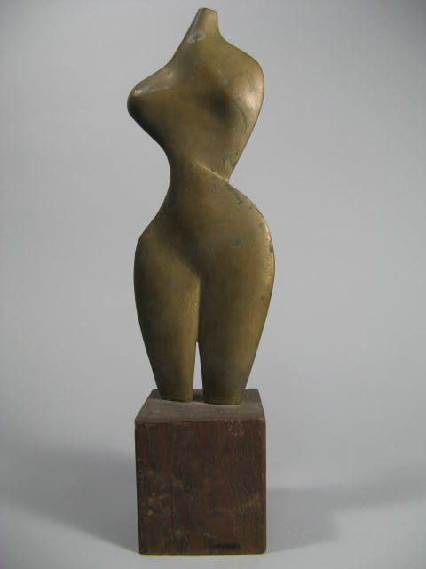 Modern Bronze Art Sculpture Leonard L. Nelson