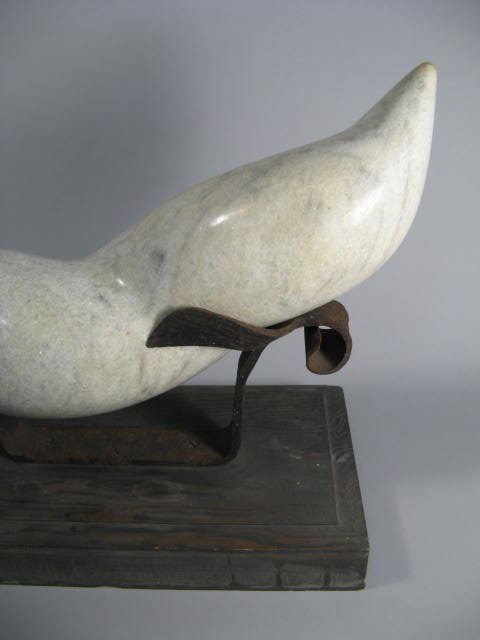 89: Modern Abstract Carved Marble  Sculpture - 3