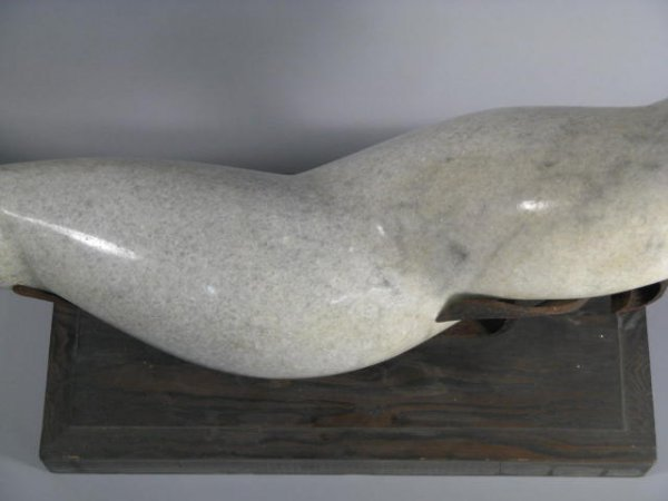 89: Modern Abstract Carved Marble  Sculpture - 5