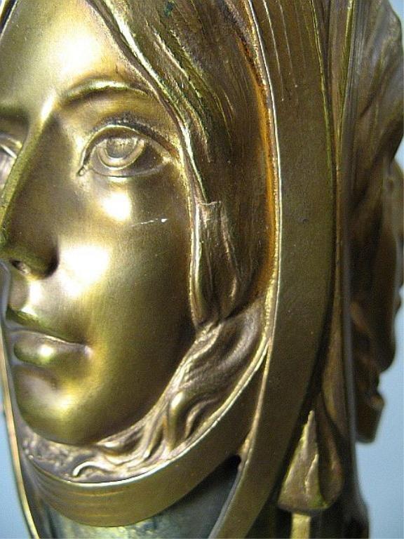 350: Art Nouveau Loetz Art Glass & Bronze Floor Lamp Au - 9