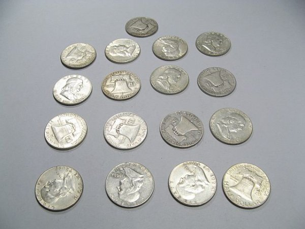 2: Ben Franklin Silver Half Dollars collection