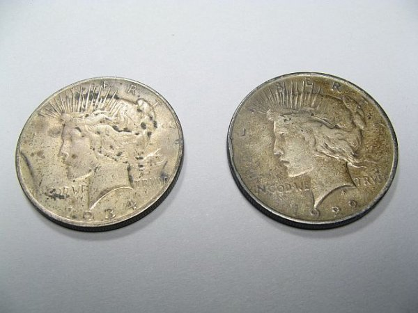 4: Peace Silver Dollars 1922,1934
