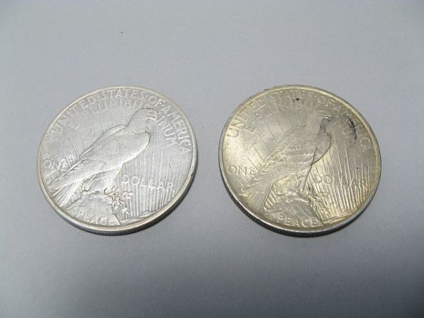 6: Peace Silver Dollars 1927, 1928