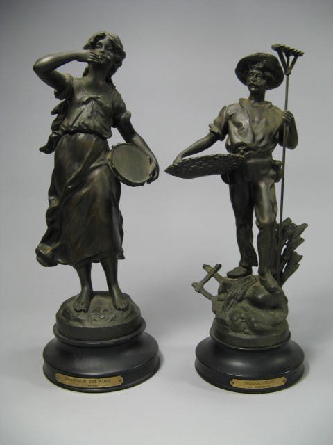 15: Pair Of French Bronze Patinated Garnitures