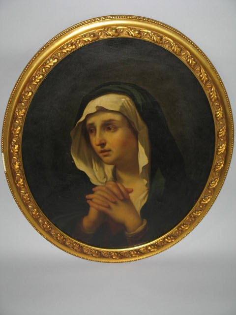 22: Painting, 19thc Study Of Virgin Mary