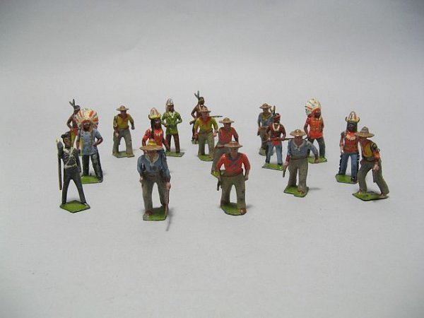 425: Lot Of Lead Toy Soldiers, Cowboys, Indian Figures - 9
