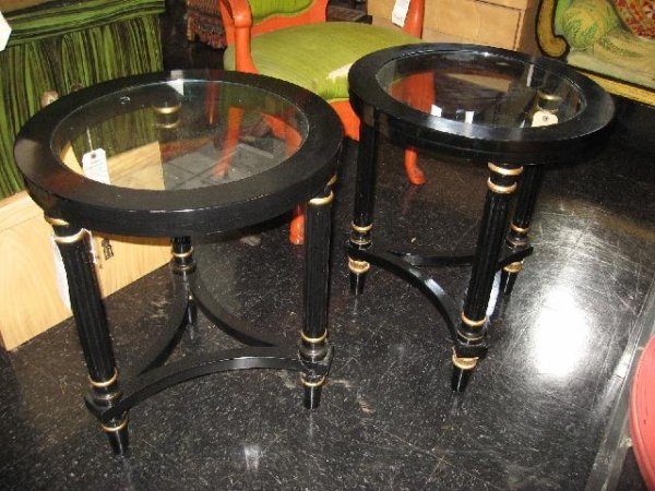 3: PAIR OF MODERN EMPIRE STYLE CIRCULAR TABLES