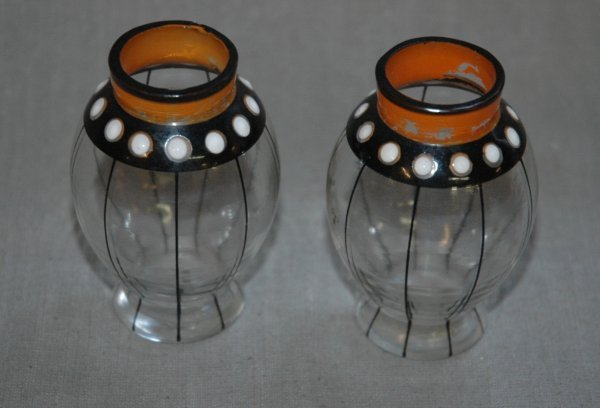 "10: A PAIR OF WIENER WERSTATTE VASES. height 3"" x 2"""