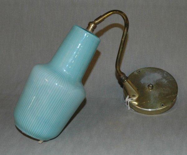 20: A VENINI WALL FIXTURE, aquamarine filligrain balust