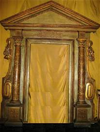 368: A BAROQUE ITALIAN GREEN-PAINTED AND PARCEL-GILT PO
