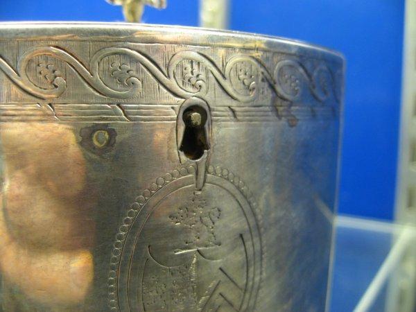 4: PAIR GEORGE III ENGLISH SILVER TEA CADDIES WITH SCRO - 4