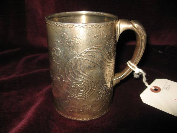 6: ENGLISH STERLING SILVER CUP WITH ART NOUVEAU DESIGN