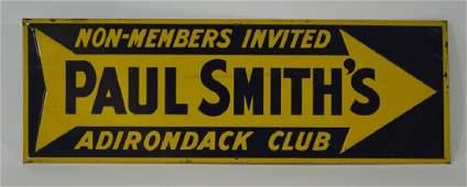 Paul Smith's Adirondack Club Tin Sign