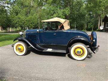 1931 Ford Model A Coupe Roadster - Deluxe